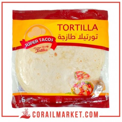 Pains de tortillas super tacos 425 g