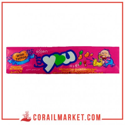 chewing-gum gout fraise for you 22 g