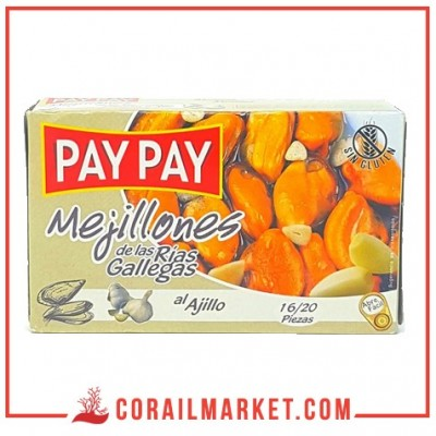 Moules PAY PAY a l'ail 70g