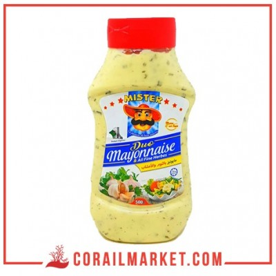 Mayonnaise Ail et fines herbes mister 500 ml